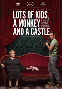 LOTS OF KIDS A MONKEY AND A CASTLE